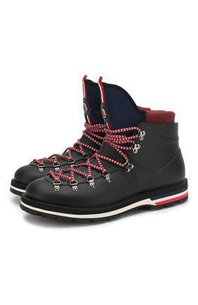 Мужские резиновые ботинки henoc MONCLER черного цвета, арт. D2-09A-10345-00-019Z3 | Фото 1