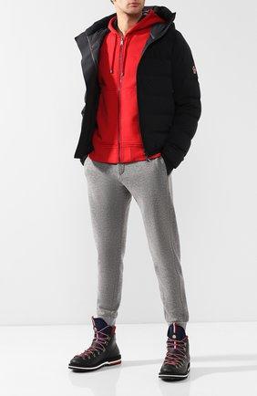 Мужские резиновые ботинки henoc MONCLER черного цвета, арт. D2-09A-10345-00-019Z3 | Фото 2