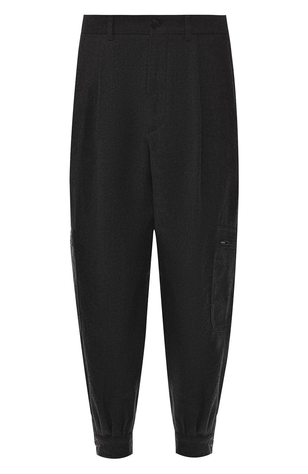 Шерстяные брюки-карго Giorgio Armani темно-серые | Фото №1