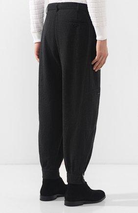 Шерстяные брюки-карго Giorgio Armani темно-серые | Фото №4