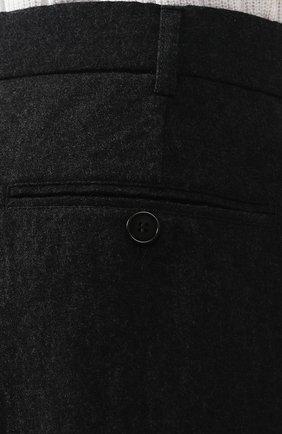 Шерстяные брюки-карго Giorgio Armani темно-серые | Фото №5