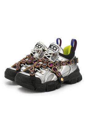 Комбинированные кроссовки Flashtrek с отделкой кристаллами | Фото №1