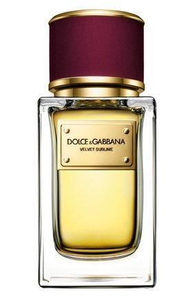 Женский парфюмерная вода velvet collection sublime DOLCE & GABBANA бесцветного цвета, арт. 3026565DG | Фото 1