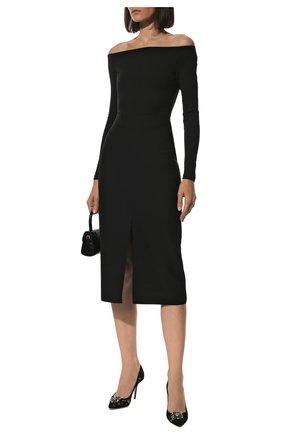 Женская текстильные туфли rainbow lace DOLCE & GABBANA черного цвета, арт. CD0101/AL198 | Фото 2