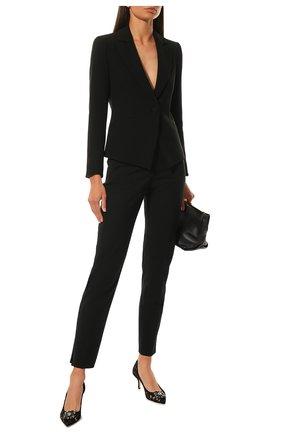 Женская текстильные туфли rainbow lace DOLCE & GABBANA черного цвета, арт. CD0066/AL198 | Фото 2