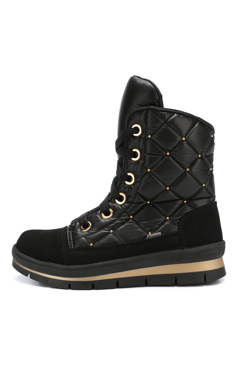 Утепленные комбинированные ботинки   Фото №3
