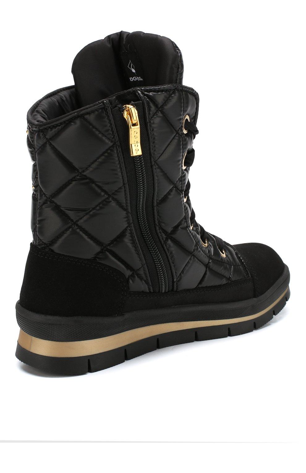Утепленные комбинированные ботинки   Фото №4