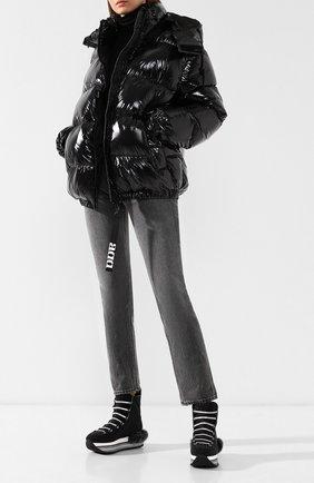 Текстильные кроссовки с глиттером Hogan черные | Фото №2