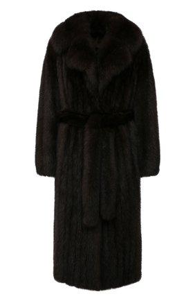 Женская шуба из меха соболя KUSSENKOVV коричневого цвета, арт. 703500003436 | Фото 1