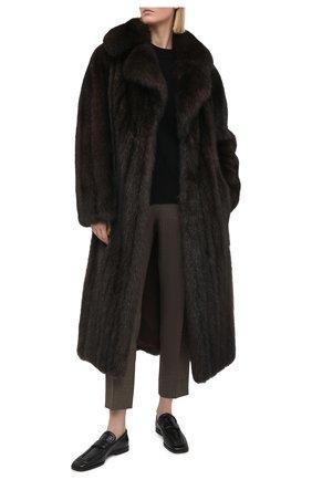 Женская шуба из меха соболя KUSSENKOVV коричневого цвета, арт. 703500003436 | Фото 2