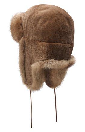 Меховая шапка-ушанка Мишка | Фото №2