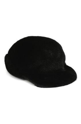 Мужской норковая бейсболка дэнис FURLAND черного цвета, арт. 0118202110155300115 | Фото 1
