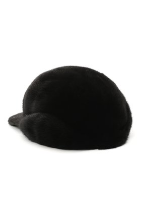 Мужской норковая бейсболка дэнис FURLAND черного цвета, арт. 0118202110155300115 | Фото 2