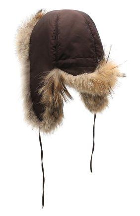 Меховая шапка-ушанка Стильная | Фото №2