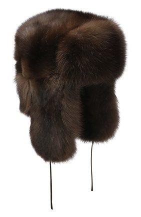 Мужская соболиная шапка-ушанка FURLAND коричневого цвета, арт. 0012201910074100000 | Фото 1