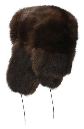 Мужская соболиная шапка-ушанка FURLAND коричневого цвета, арт. 0012201910074100000 | Фото 2