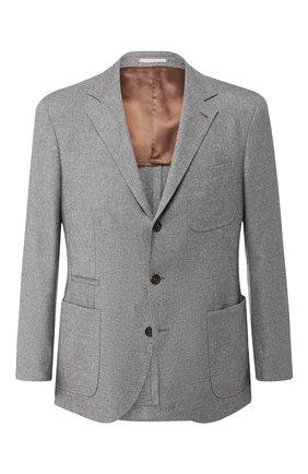 Однобортный пиджак из смеси кашемира и шелка   Фото №1