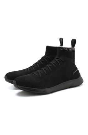 Текстильные кроссовки B21 Socks на шнуровке   Фото №1
