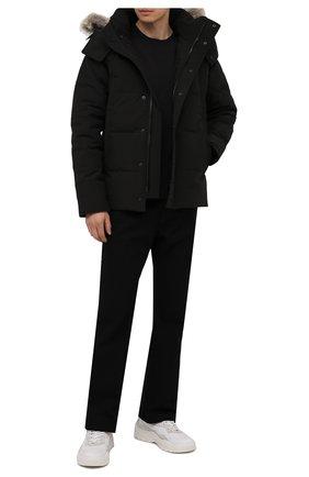 Мужская пуховая парка wyndham с меховой отделкой CANADA GOOSE черного цвета, арт. 3808MB | Фото 2