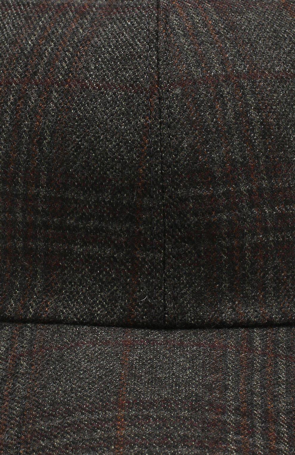 Мужской кашемировая бейсболка LORO PIANA темно-серого цвета, арт. FAI2319 | Фото 3