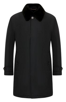 Пальто с меховой подкладкой | Фото №1