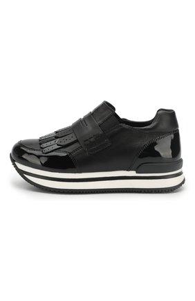 Кожаные кроссовки с бахромой | Фото №2