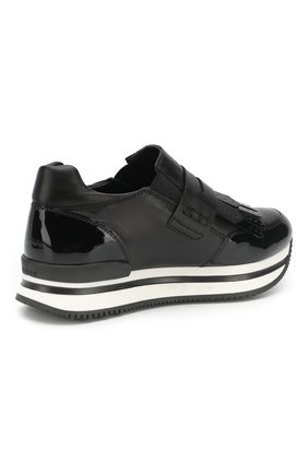 Кожаные кроссовки с бахромой | Фото №3