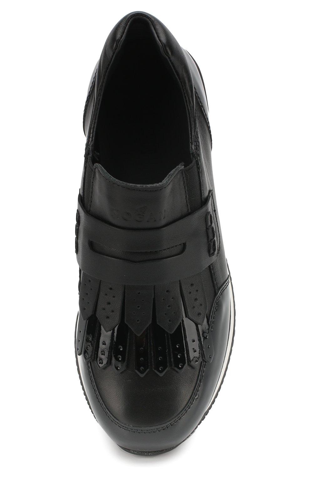 Кожаные кроссовки с бахромой | Фото №4