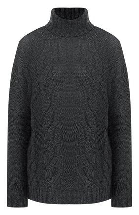 Кашемировый пуловер с высоким воротником   Фото №1