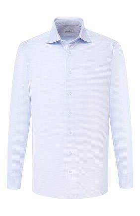 Мужская хлопковая сорочка с воротником кент ZILLI голубого цвета, арт. MFQ-MERCU-30106/RZ01   Фото 1
