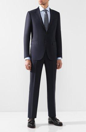 Мужская хлопковая сорочка с воротником кент ZILLI голубого цвета, арт. MFQ-MERCU-30106/RZ01   Фото 2