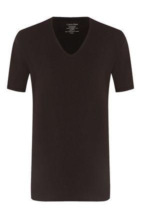 Мужские хлопковая футболка CALVIN KLEIN черного цвета, арт. NB1336A | Фото 1
