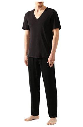 Мужские хлопковая футболка CALVIN KLEIN черного цвета, арт. NB1336A | Фото 2