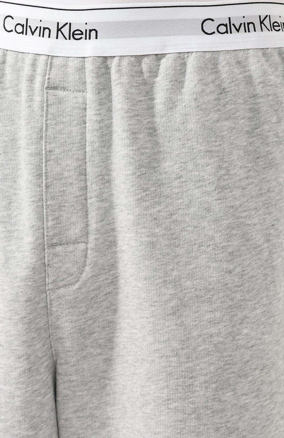 Мужские хлопковые домашние джоггеры CALVIN KLEIN серого цвета, арт. NM1356E | Фото 5