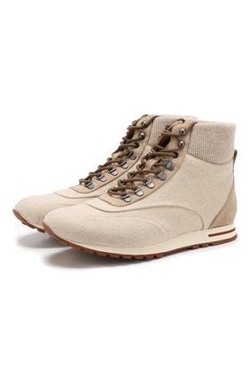 Комбинированные ботинки Week End Walk на шнуровке | Фото №1