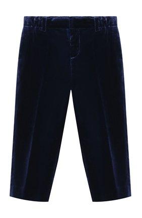 Детские бархатные брюки BURBERRY темно-синего цвета, арт. 8003444 | Фото 1 (Материал внешний: Хлопок; Статус проверки: Проверено, Проверена категория)