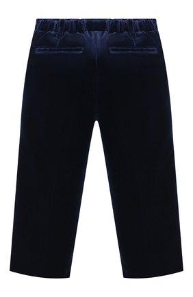 Детские бархатные брюки BURBERRY темно-синего цвета, арт. 8003444 | Фото 2 (Материал внешний: Хлопок; Статус проверки: Проверено, Проверена категория)