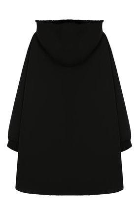 Детское двустороннее пальто с мехом YVES SALOMON ENFANT черного цвета, арт. 9WEM902XXNYVC/8-12 | Фото 2