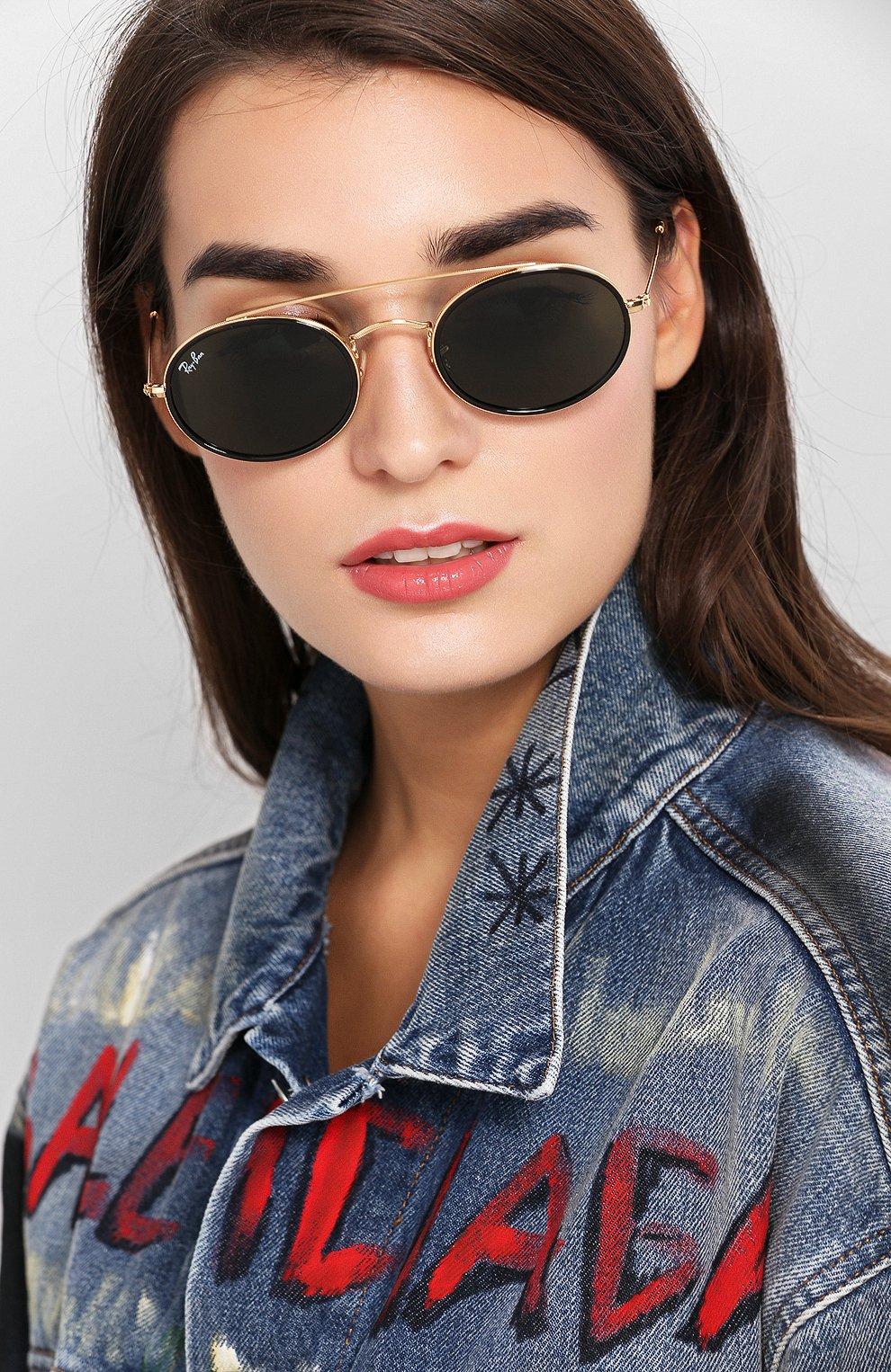 Женские солнцезащитные очки RAY-BAN темно-зеленого цвета, арт. 3847N-912131   Фото 2
