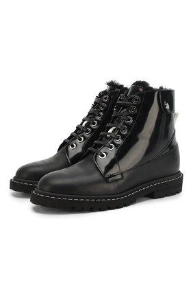 Кожаные ботинки Snow Flat | Фото №1