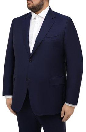 Мужской шерстяной костюм CANALI синего цвета, арт. 11280/10/AA00099/60-64   Фото 2