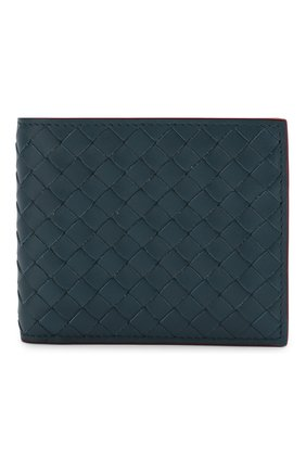 Кожаное портмоне с плетением intrecciato   Фото №1