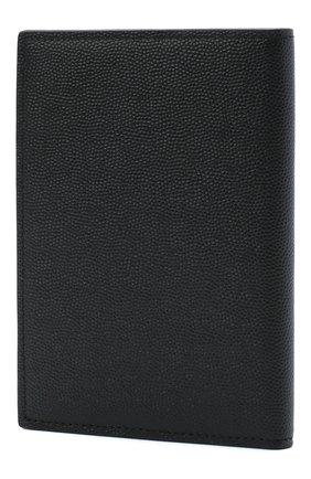 Мужская кожаная обложка для паспорта SAINT LAURENT черного цвета, арт. 441711/BTY0N | Фото 2