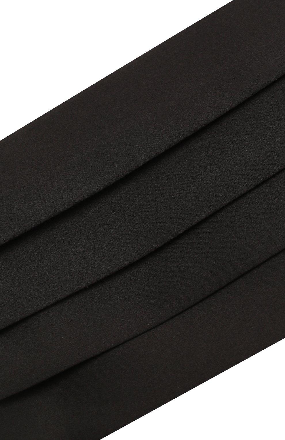 Мужской шелковый камербанд BRIONI черного цвета, арт. 000100/PZ411 | Фото 3