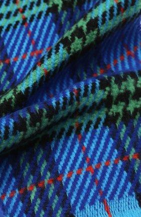 Детский шерстяной шарф BURBERRY синего цвета, арт. 4078167   Фото 2