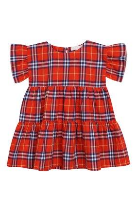 Женский хлопковое платье BURBERRY разноцветного цвета, арт. 8003414 | Фото 1