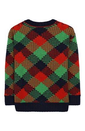 Детский шерстяной пуловер BURBERRY разноцветного цвета, арт. 8003707   Фото 2