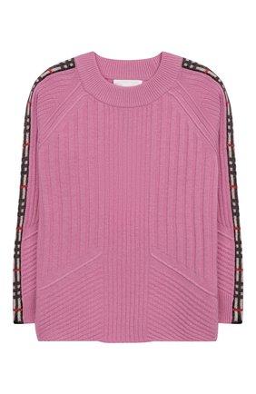 Пуловер из хлопка шерсти и кашемира | Фото №1