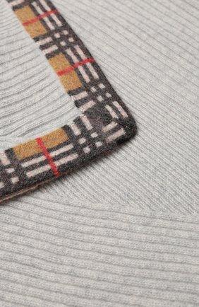 Детского кашемировое одеяло BURBERRY серого цвета, арт. 8003956 | Фото 2