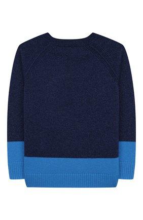 Детский кашемировый пуловер BURBERRY синего цвета, арт. 8003744 | Фото 2
